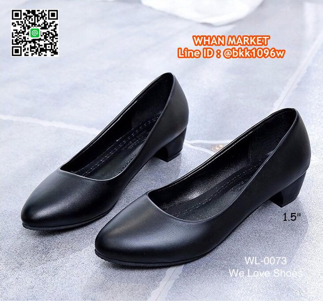 รองเท้าคัชชูสีดำ ส้นเหลี่ยม ส้นสูง 1.5 นิ้ว หนังPU อย่างดี  รูปที่ 3