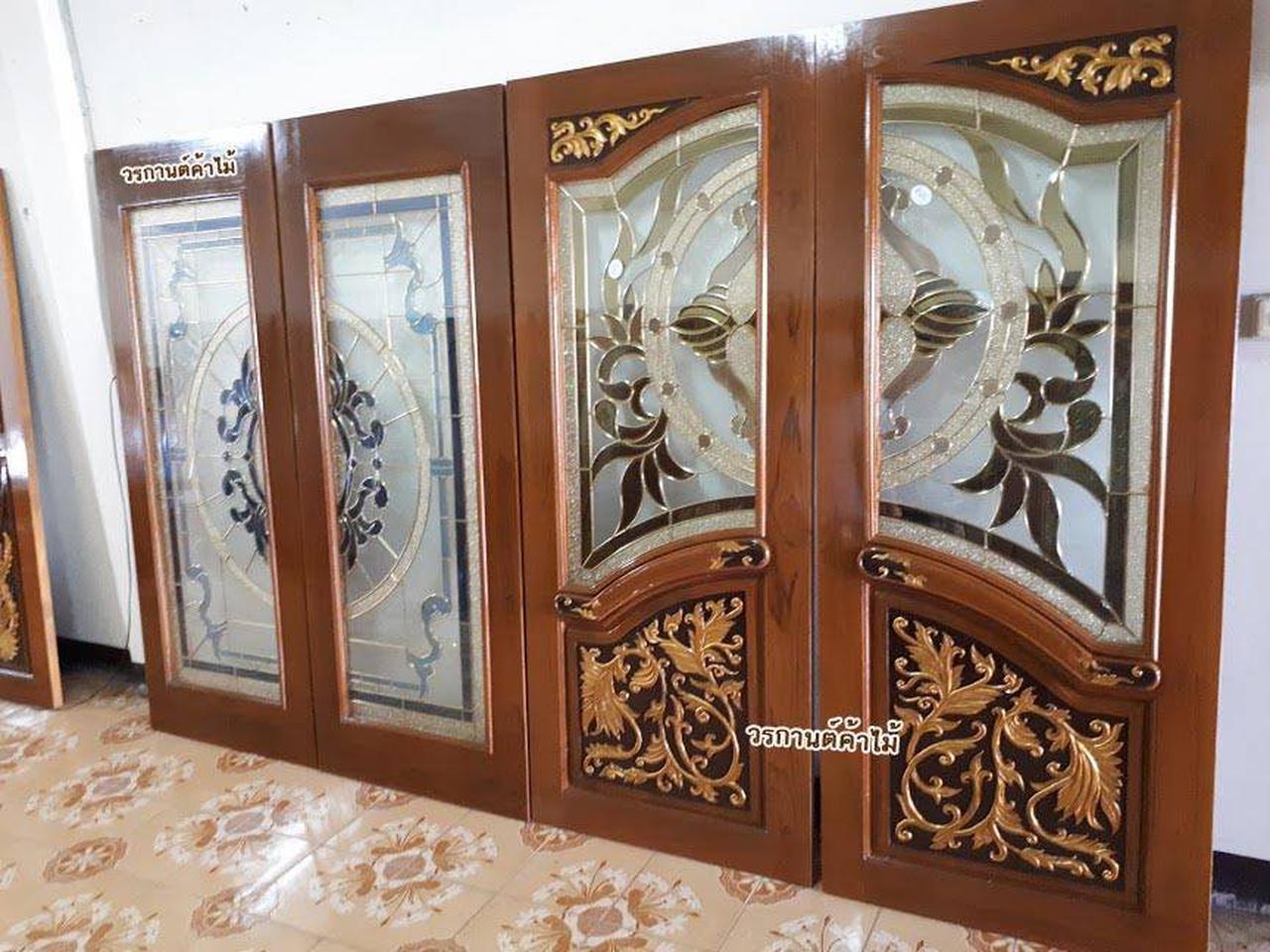 ประตูไม้สัก,ประตูไม้สักกระจกนิรภัย,ประตูไม้สักบานคู่,ประตูไม้สักบานเดี่ยว www.door-woodhome.com รูปที่ 5