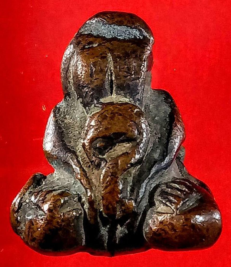 พระปิดตาหลวงปู่เกิด วัดมะเดื่อ เนื้อทองแดงเถื่อน รูปที่ 6