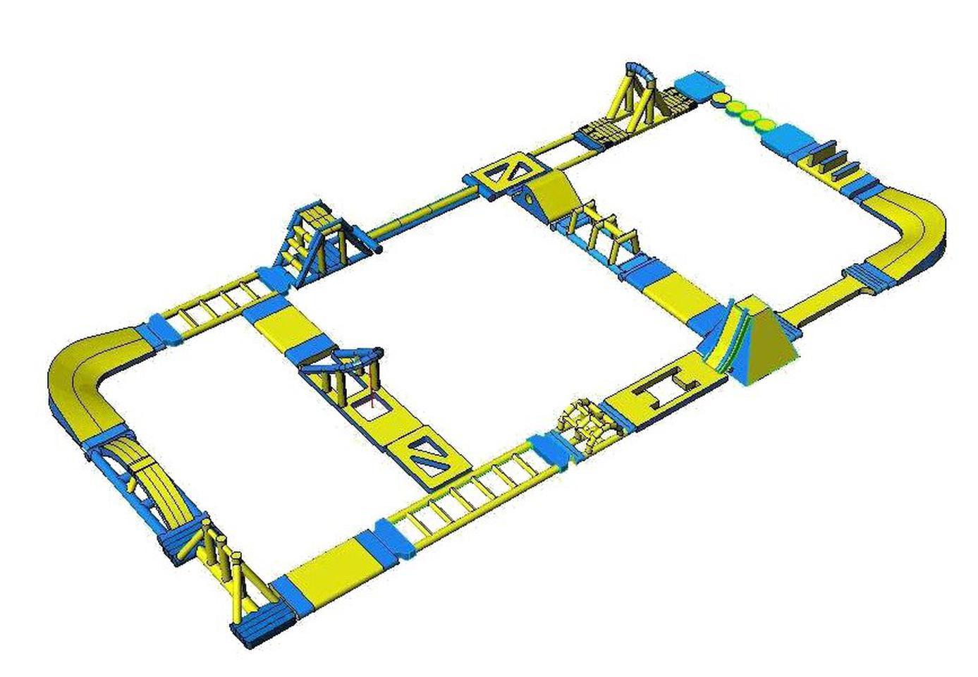 เครื่องเล่นสวนน้ำ obstacle game 40X20M เครื่องเล่นสวนน้ำ อุปสรรค 40X20M รูปที่ 1