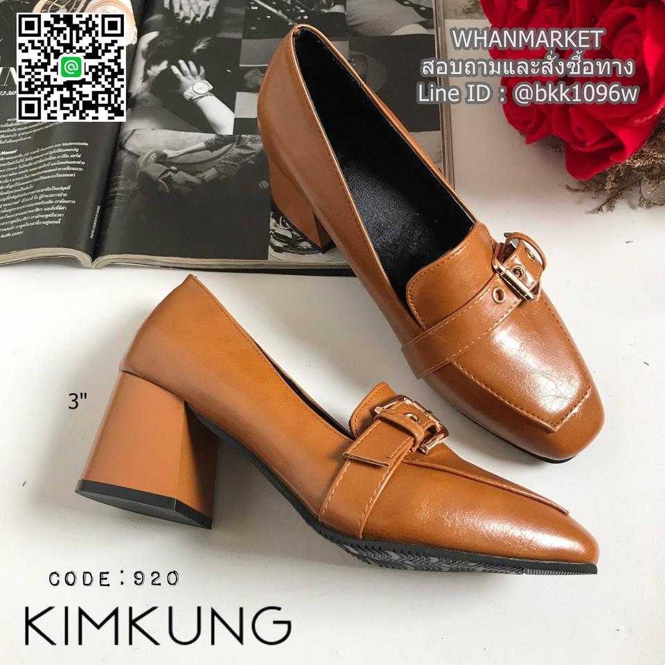 """รองเท้าคัทชูส้นสูง style oxford งานนำเข้า งานเกาหลี เข็มขัดด้านหน้า สูง 3"""" รูปที่ 3"""