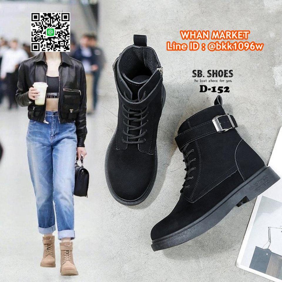 รองเท้าบูทสไตล์เกาหลี หนังPU มีเชือกปรับกระชับเท้า ทรงสวยมาก รูปที่ 2