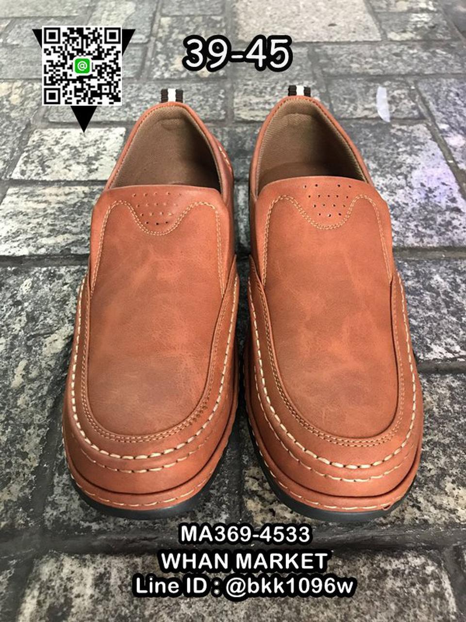 รองเท้าคัชชูหนังผู้ชาย วัสดุหนัง PU คุณภาพดี แบบสวม สวมใส่ง่ รูปที่ 6