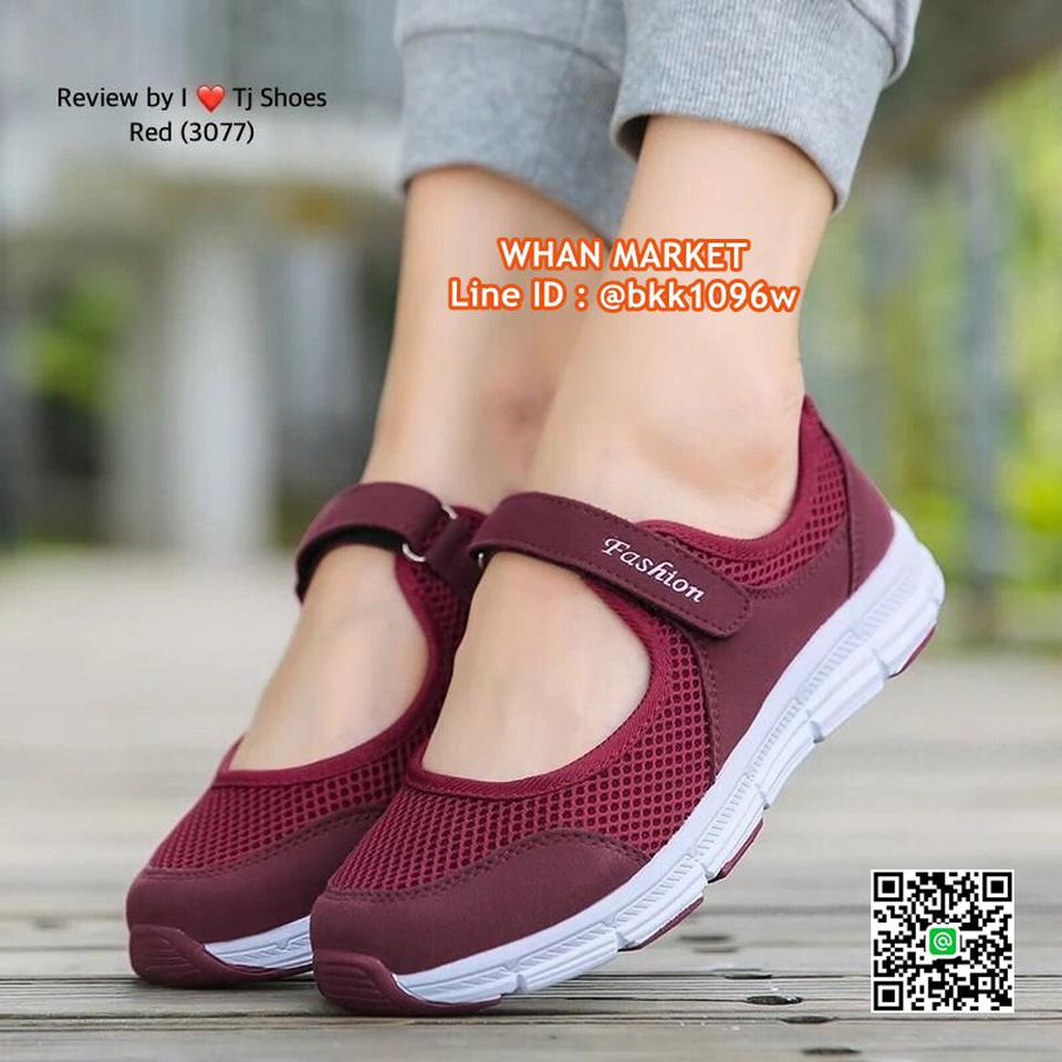 รองเท้าผ้าใบ แบบสวม วัสดุผ้าใบอย่างดี น้ำหนักเบ๊าเบา  รูปที่ 4