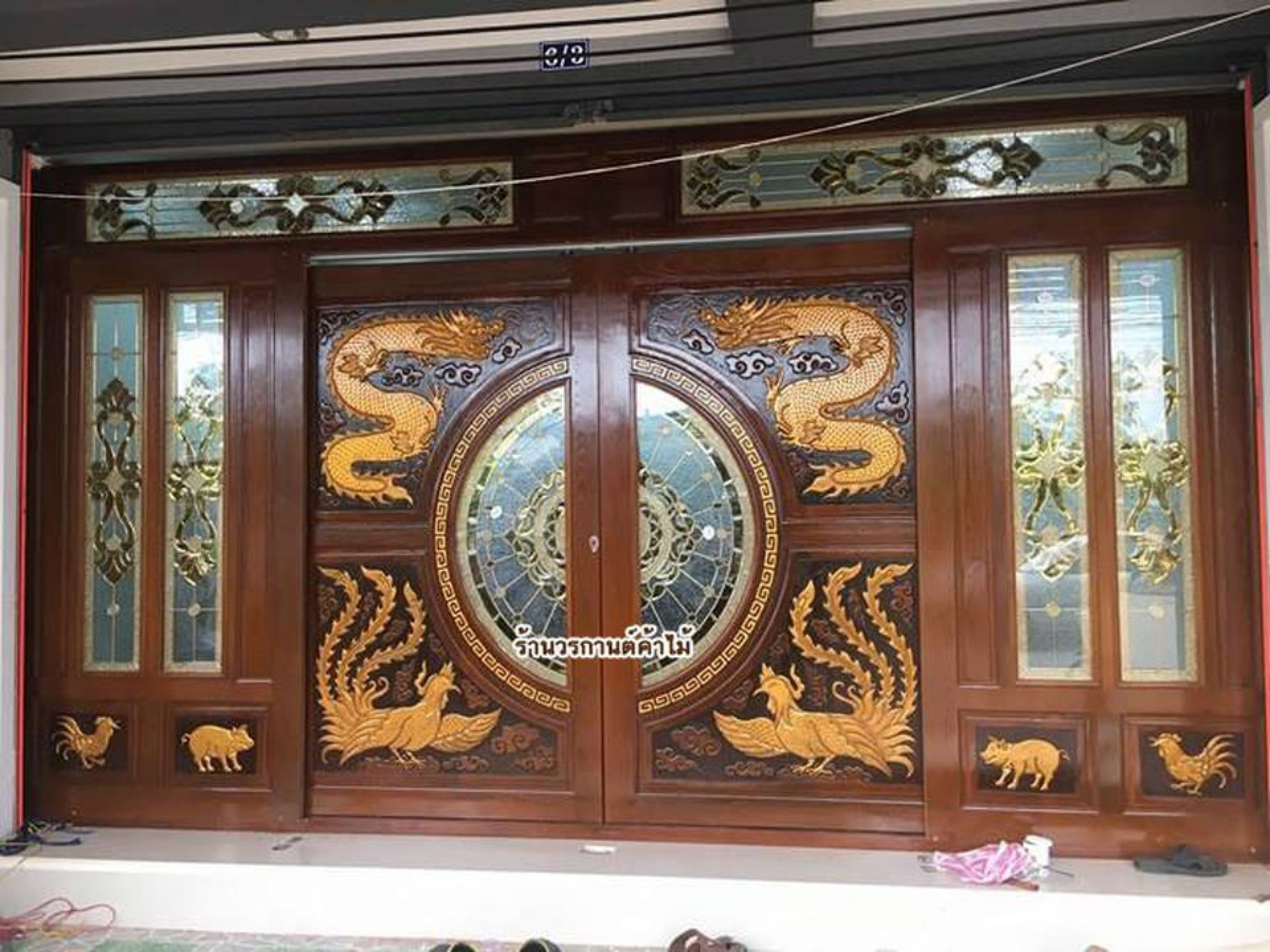 door-woodhome จำหน่ายประตูไม้สัก,ประตูไม้สักกระจกนิรภัย,ประตูไม้สักบานคู่ รูปที่ 2