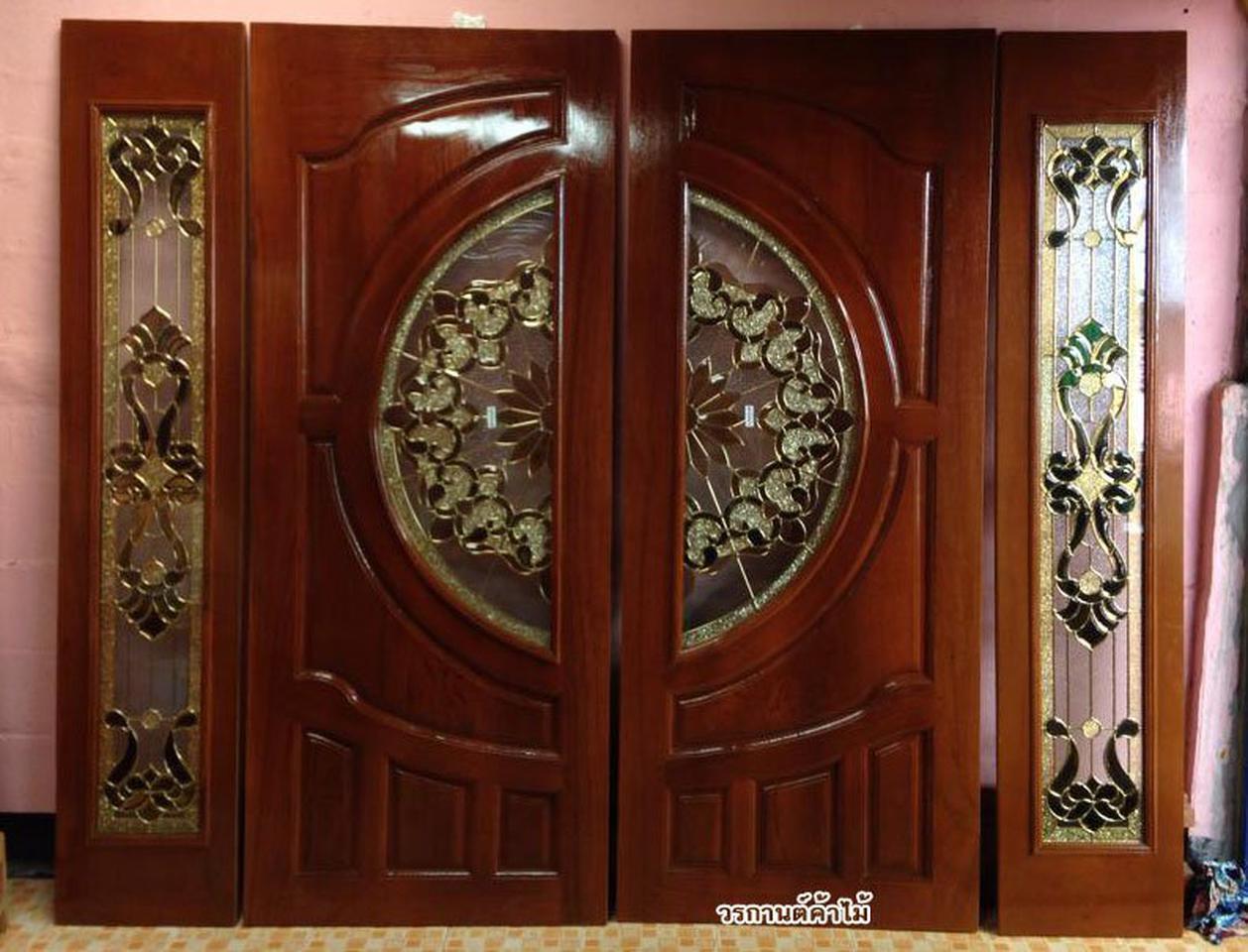 ร้านวรกานต์ค้าไม้ จำหน่าย ประตูไม้สัก กระจกนิรภัย,ประตูบานเลื่อนไม้สัก รูปที่ 3