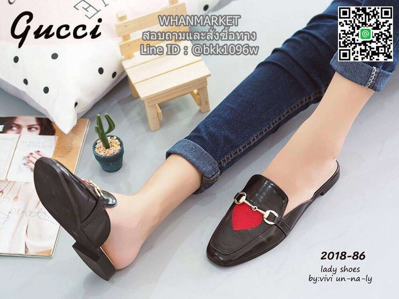 รองเท้าแตะหัวตัด งานเปิดส้น งานstyle Gucci ปักลายรูปปากและหัวใจ สุดน่าร๊าก รูปที่ 4