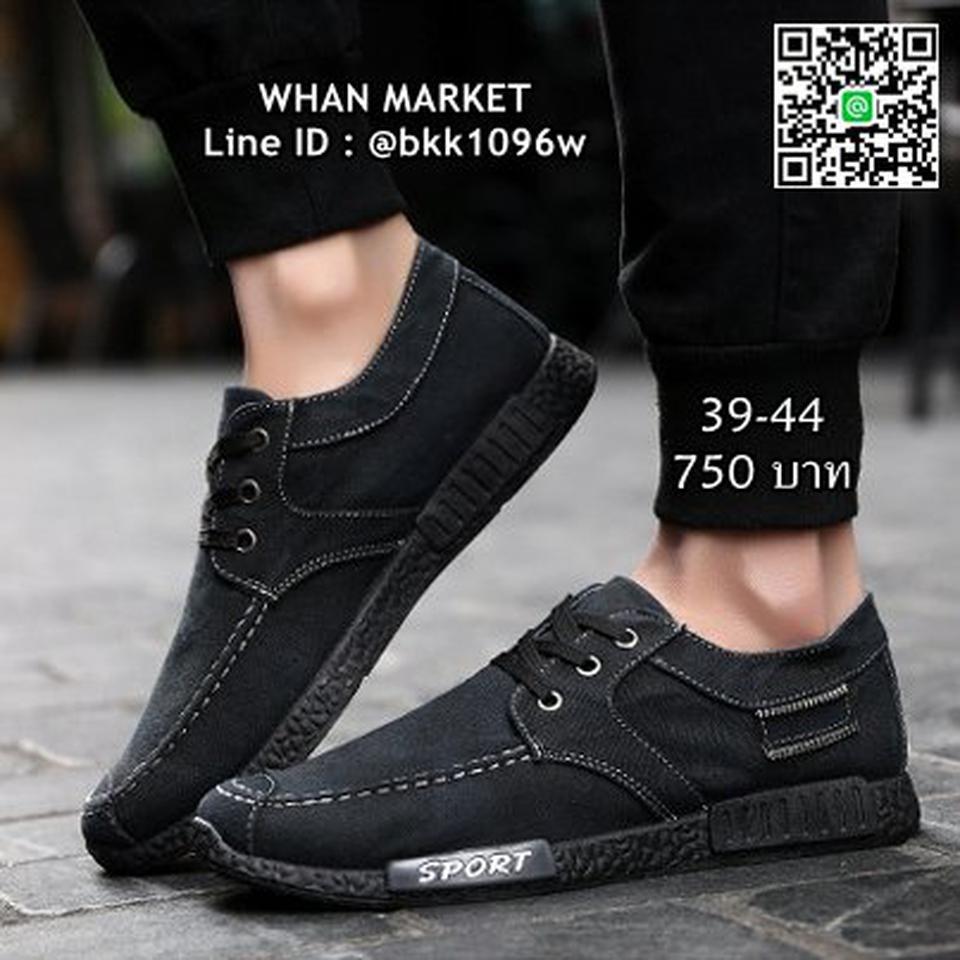 รองเท้าผ้าใบผู้ชาย แฟชั่นนำเข้า สไตล์สปอต วัสดุผ้าใบอย่างดี  รูปที่ 3