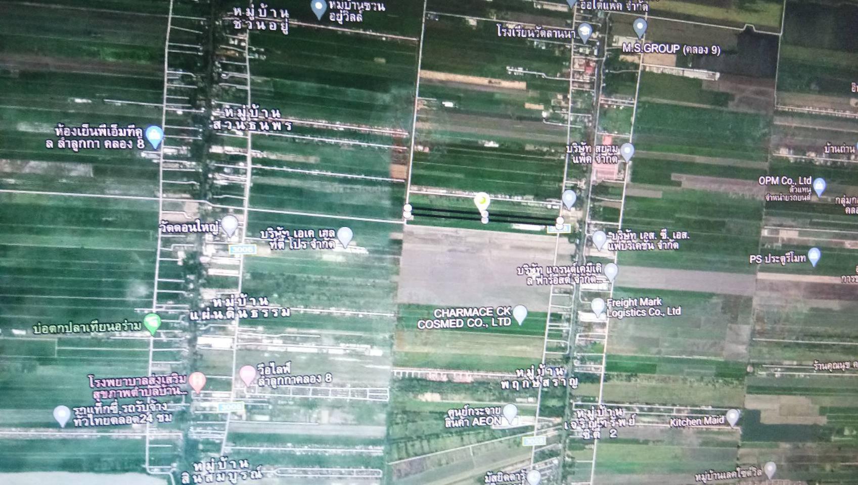 ขายที่ดินเปล่าในถนนลำลูกกาคลอง 9 จังหวัดปทุมธานี รูปที่ 1