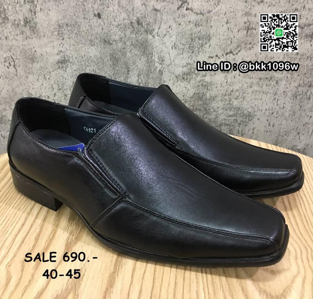 รองเท้าคัชชูหนัง สีดำ ผู้ชาย แบบสวม ทรงสุภาพ วัสดุหนังPU  รูปที่ 1
