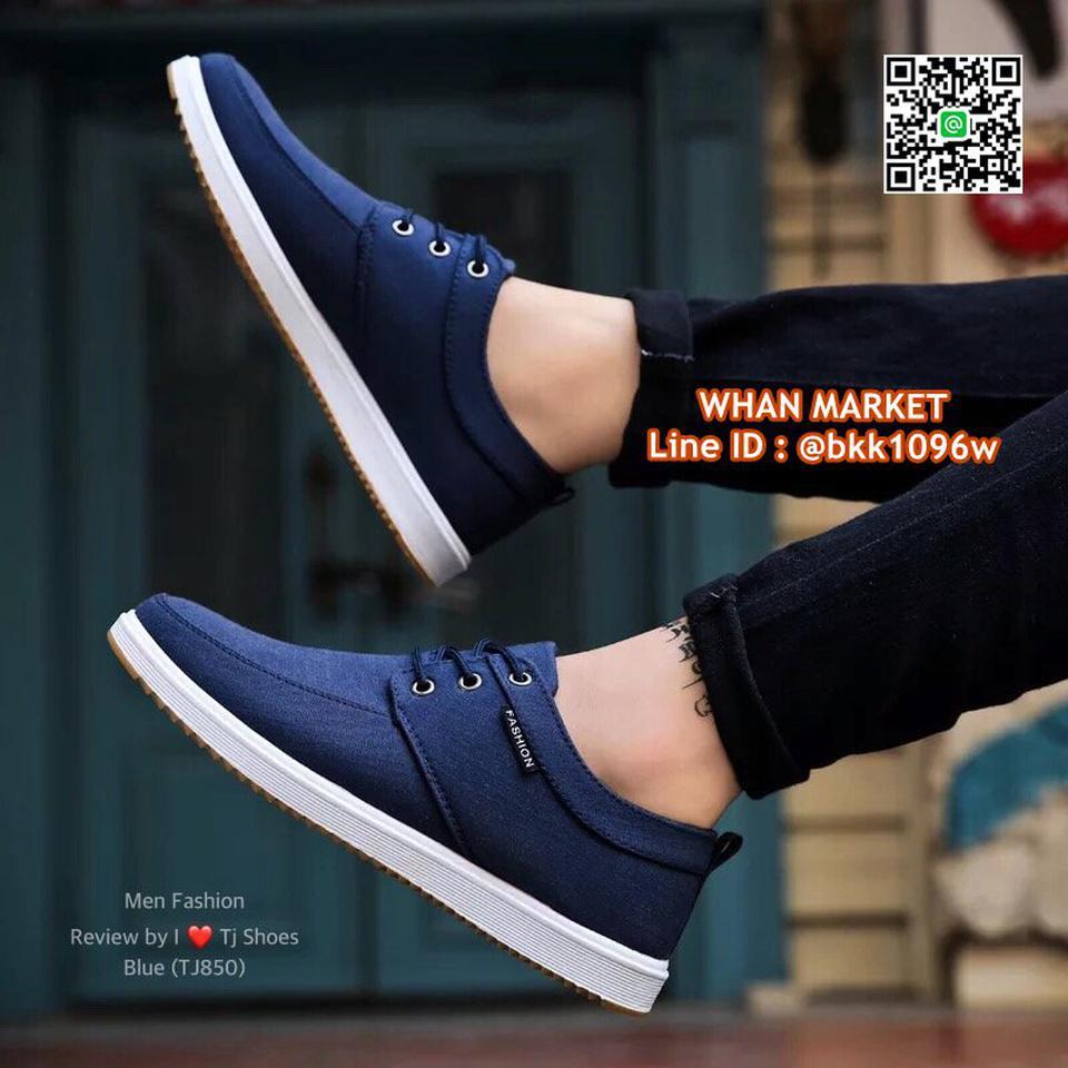 รองเท้าผ้าใบผู้ชาย วัสดุผ้าใบอย่างดี น้ำหนักเบา ใส่นิ่ม  รูปที่ 6