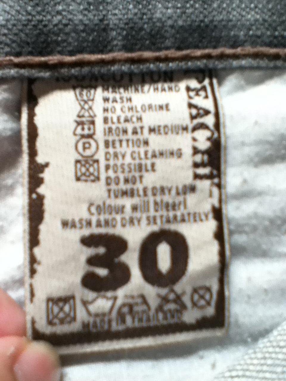 กางเกงยีนPeachijeans กระบอกเล็ก เอว30 รูปที่ 4