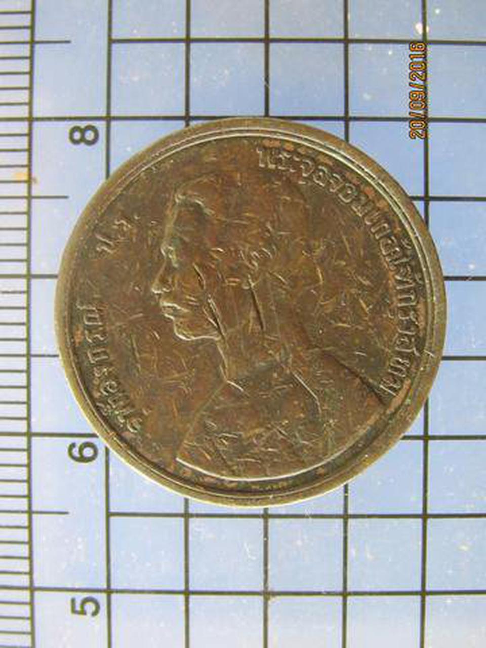 3890 เหรียญ ร.5 ทองแดง หนึ่งอัฐ รศ.124 หลังพระสยามเทวาธิราช  รูปที่ 2