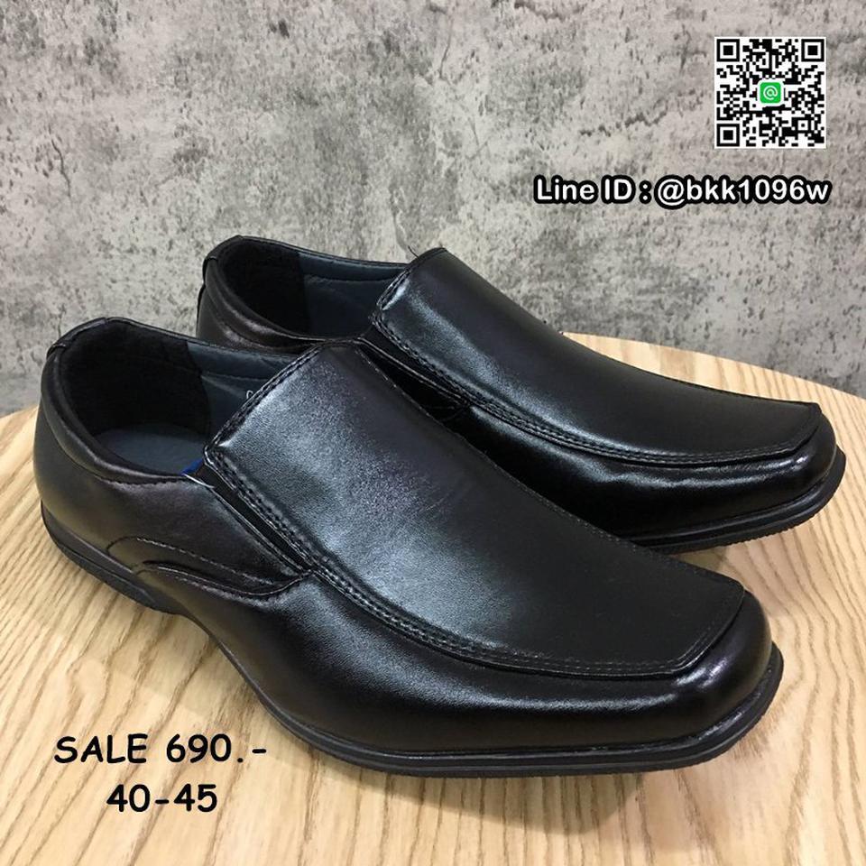 รองเท้าคัชชูหนัง สีดำ ผู้ชาย แบบสวม ทรงสุภาพ วัสดุหนังPU  รูปที่ 2