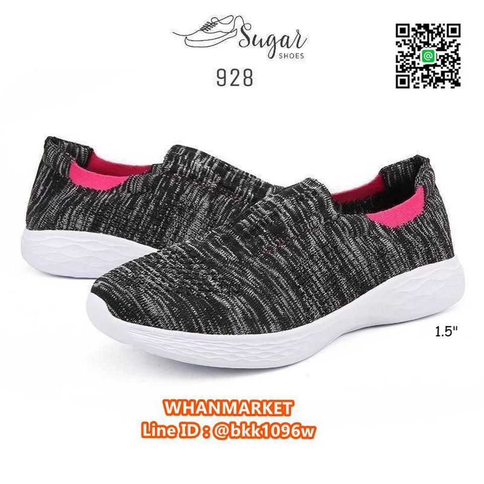 รองเท้าผ้าใบลำลอง ทำจากผ้าทอยืดหยุ่นได้ดี ทรงสวมใส่ง่าย รูปที่ 2
