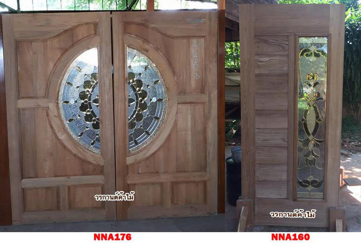 ประตูไม้สัก,ประตูไม้สักกระจกนิรภัย ไม้สักเก่า  ร้านวรกานต์ค้าไม้ door-woodhome.com รูปที่ 4
