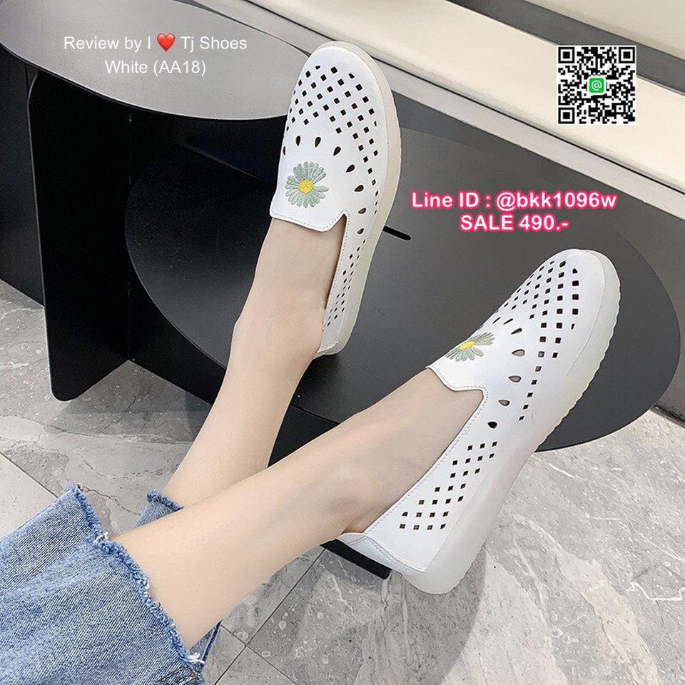 รองเท้าคัชชูหนัง วัสดุหนังPUนิ่มมาก ปักลายดอกไม้น่ารัก  รูปที่ 5