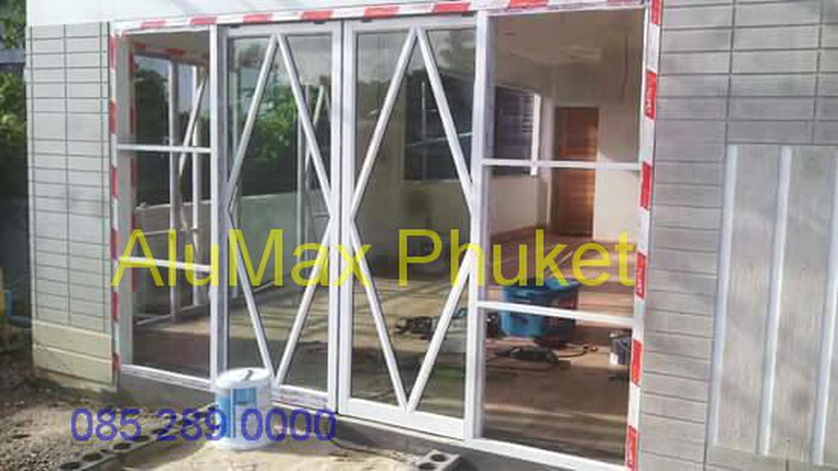ช่างกระจก ภูเก็ต ช่างติดตั้งกระจกอลูมิเนียม ราคาถูก รูปที่ 1