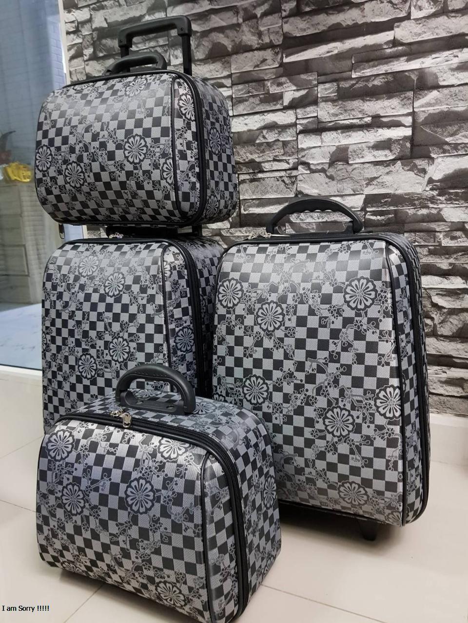 กระเป๋าเดินทางแบบผ้า เซ็ทคู่ 18/13 นิ้ว ลาย Gray/Black รูปที่ 5