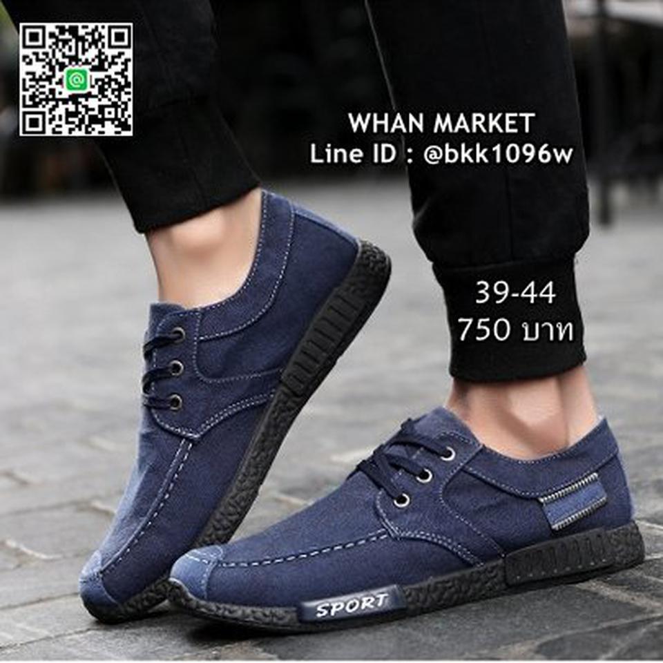 รองเท้าผ้าใบผู้ชาย แฟชั่นนำเข้า สไตล์สปอต วัสดุผ้าใบอย่างดี  รูปที่ 4