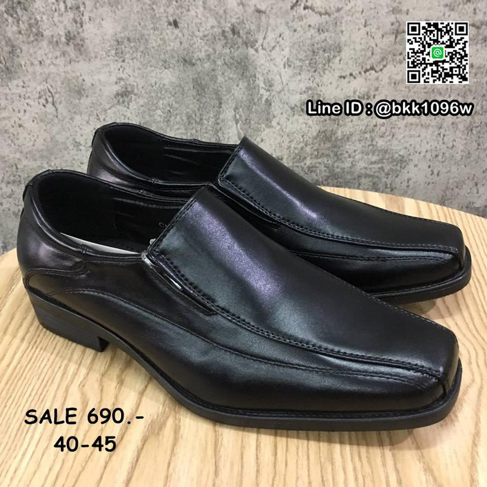 รองเท้าคัชชูหนัง สีดำ ผู้ชาย แบบสวม ทรงสุภาพ วัสดุหนังPU   รูปที่ 3