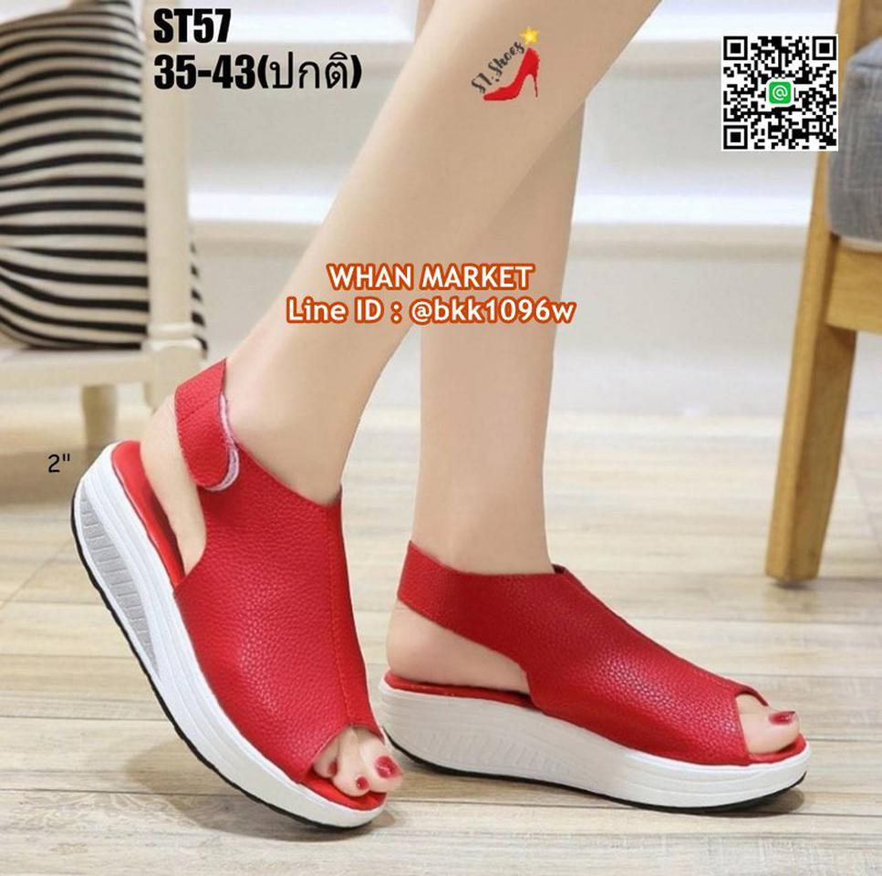 รองเท้าลำลอง แบบสวม เปิดท้าย วัสดุหนัง pu นิ่ม น้ำหนักเบา รูปที่ 6