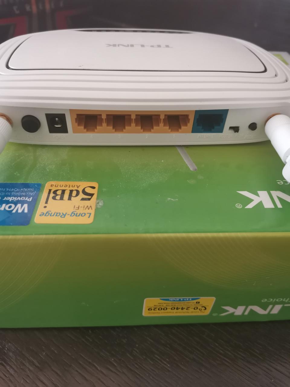 เร๊าเตอร์tplink tl3-wr843nd300mbpsสภาพใหม่แกะกล่องใช้งานได้ปกติ อุปกรณ์ครบ  รูปที่ 6