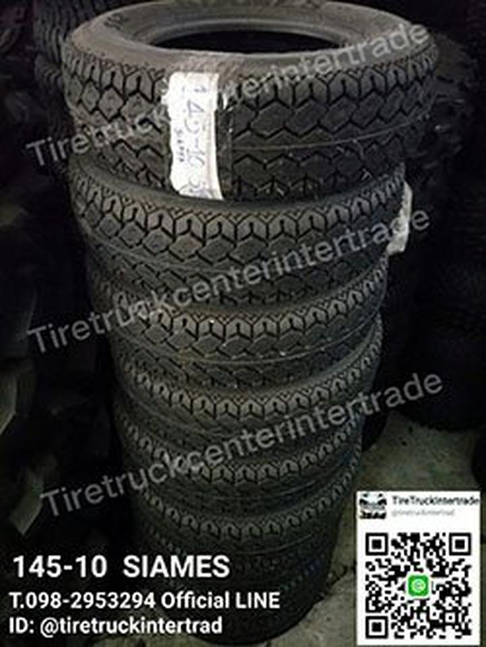 ยางสำหรับรถขนาด 145-10 SIAMES สามารถติดต่อสอบถามรายละเอียดได รูปที่ 1