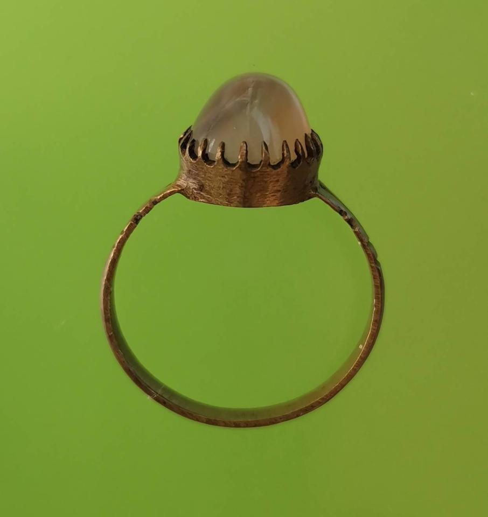 5885 แหวน เข้าตัวเลือนทองเหลือง เส้นผ่าศูนย์กลาง 1.8 เซ็นติเมตร รูปที่ 1