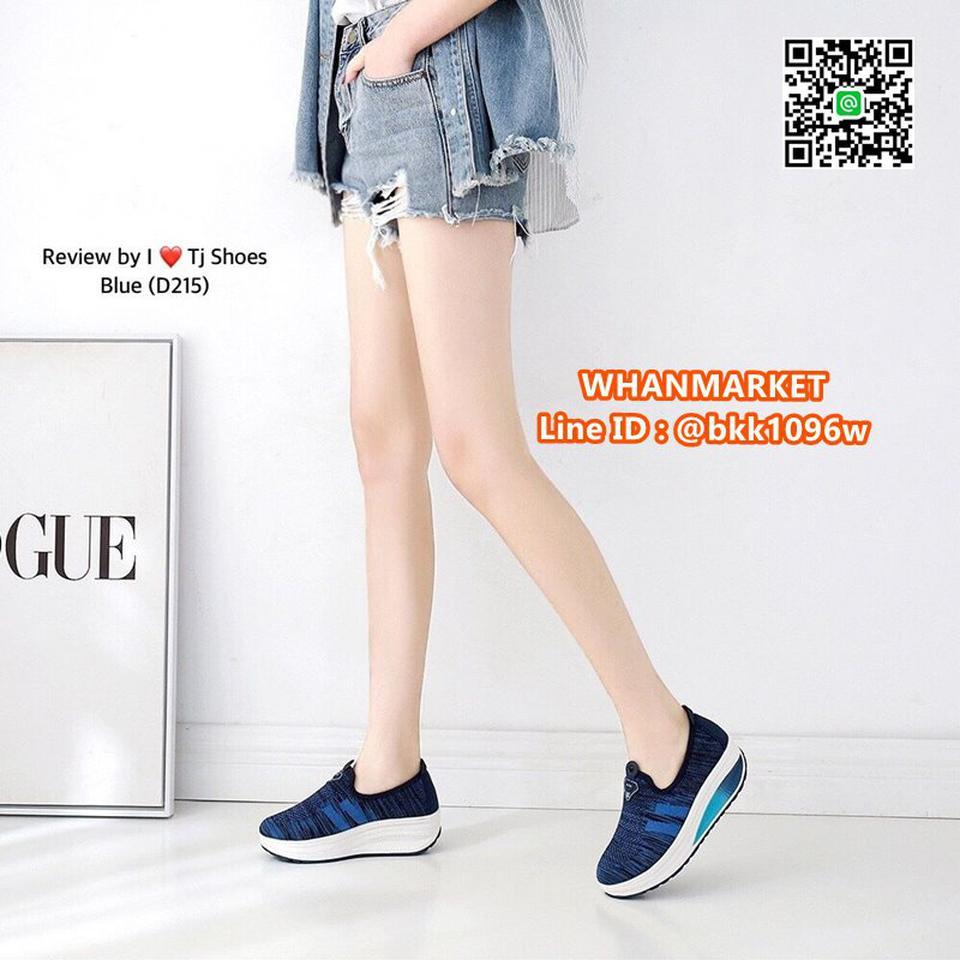 รองเท้าผ้าใบ เสริมส้น 2 นิ้ว วัสดุผ้าใบอย่างดี พื้นยาง  รูปที่ 3
