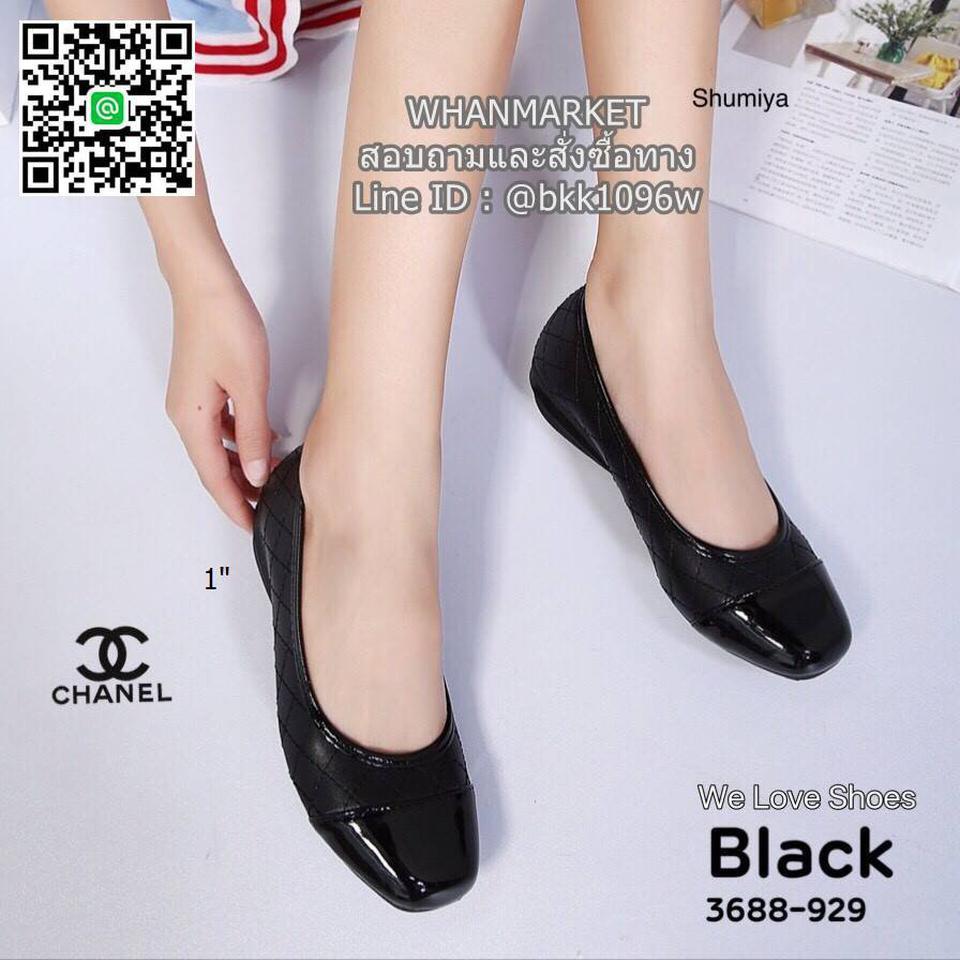รองเท้าคัชชู งานสไตล์ Chanel งานหนังนิ่ม ส้นสูง 1 นิ้ว รูปที่ 2