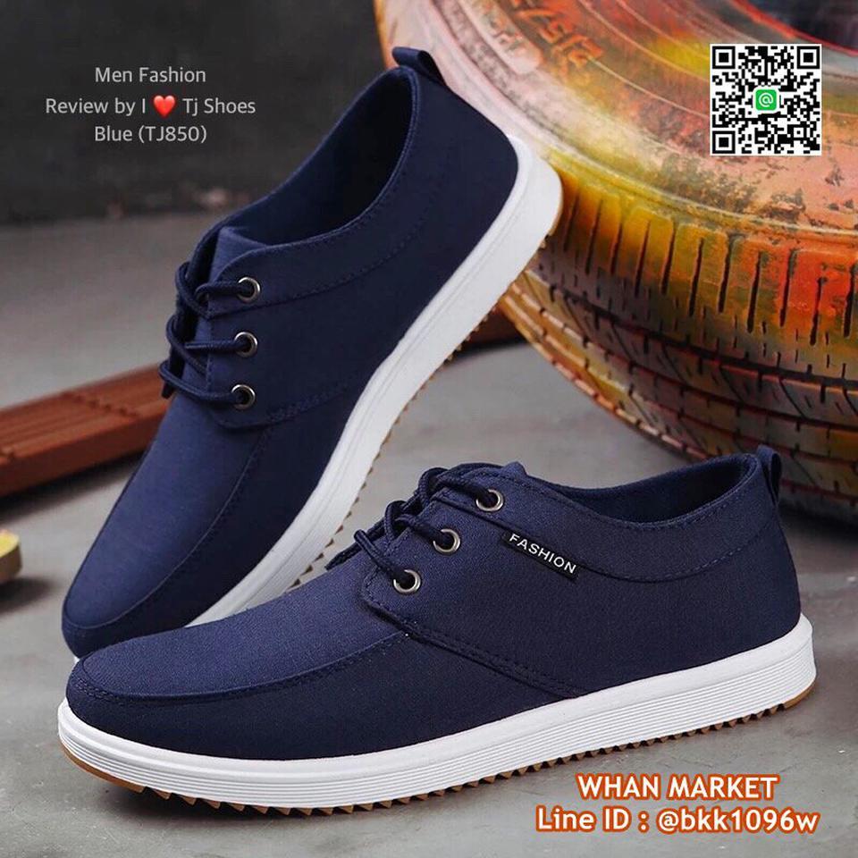รองเท้าผ้าใบผู้ชาย วัสดุผ้าใบอย่างดี น้ำหนักเบา ใส่นิ่ม  รูปที่ 2