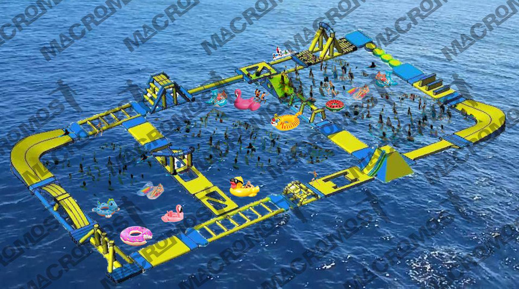 เครื่องเล่นสวนน้ำ obstacle game 40X20M เครื่องเล่นสวนน้ำ อุปสรรค 40X20M รูปที่ 2