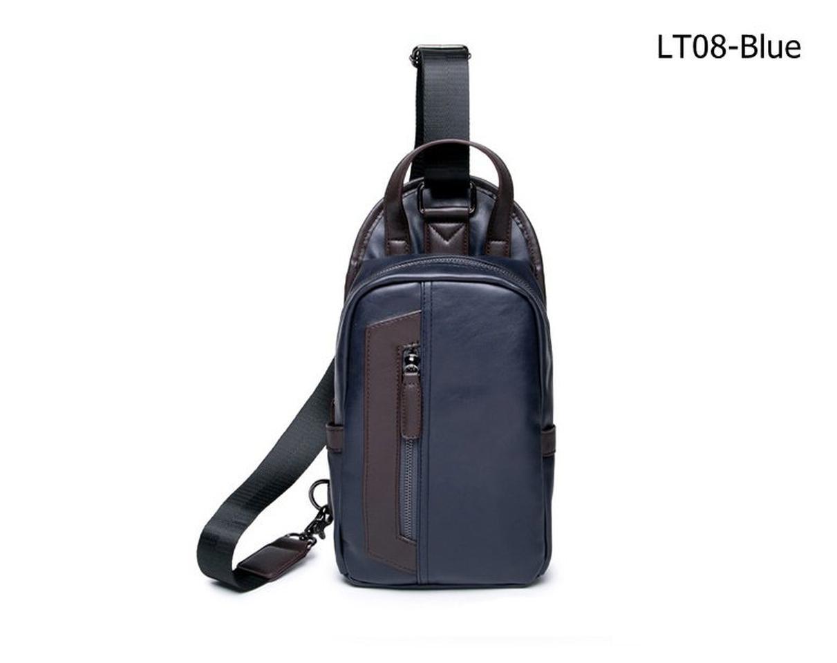 กระเป๋าหนังPUสีฟ้า รูปที่ 1