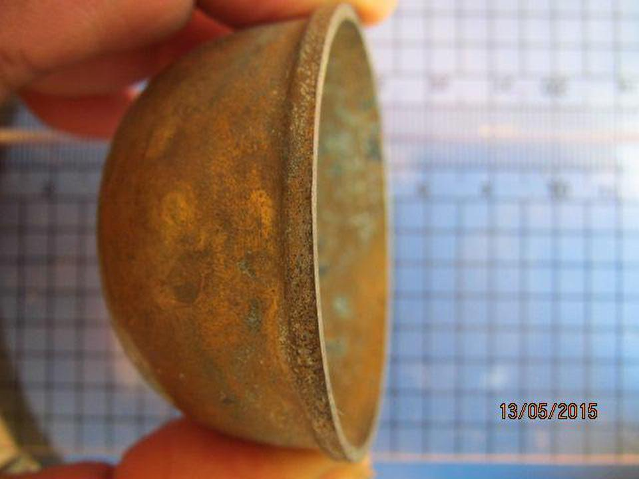 1982 ถ้วยทองเหลือง ความกว้างขนาด 2 นิ้ว สูง 1 นิ้ว ถ้วยทองเห รูปที่ 1