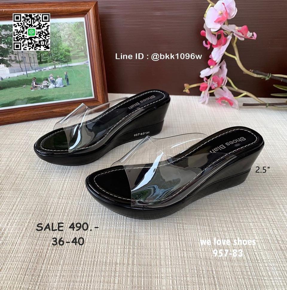 รองเท้าส้นเตารีด พลาสติกใสนิ่ม น้ำหนักเบา สูง 2.5 นิ้ว  รูปที่ 3