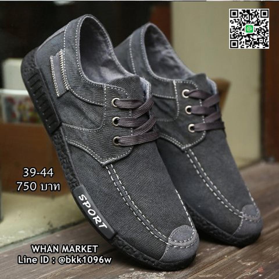 รองเท้าผ้าใบผู้ชาย แฟชั่นนำเข้า สไตล์สปอต วัสดุผ้าใบอย่างดี  รูปที่ 5