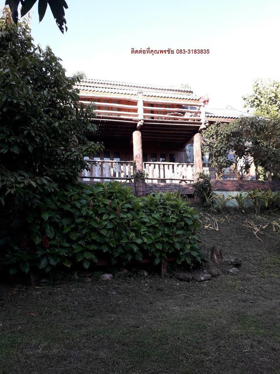 MR83ขายบ้านไม้สองชั้นบนเนินสูงมีเนื่อที่0-3-95ไร่ติดทางหลวงช รูปที่ 4