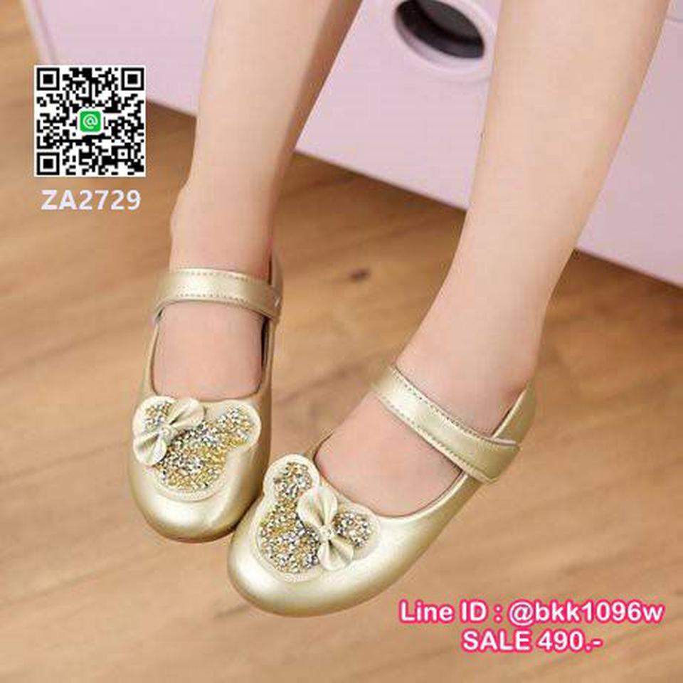 รองเท้าคัชชูเด็ก น่ารักฟรุ้งฟริ้ง ไซส์ 21-30 มีสายคาดหน้าเท้ากันหลุด รูปที่ 3