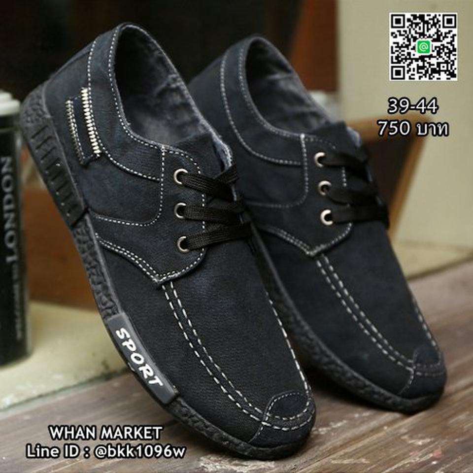 รองเท้าผ้าใบผู้ชาย แฟชั่นนำเข้า สไตล์สปอต วัสดุผ้าใบอย่างดี  รูปที่ 2