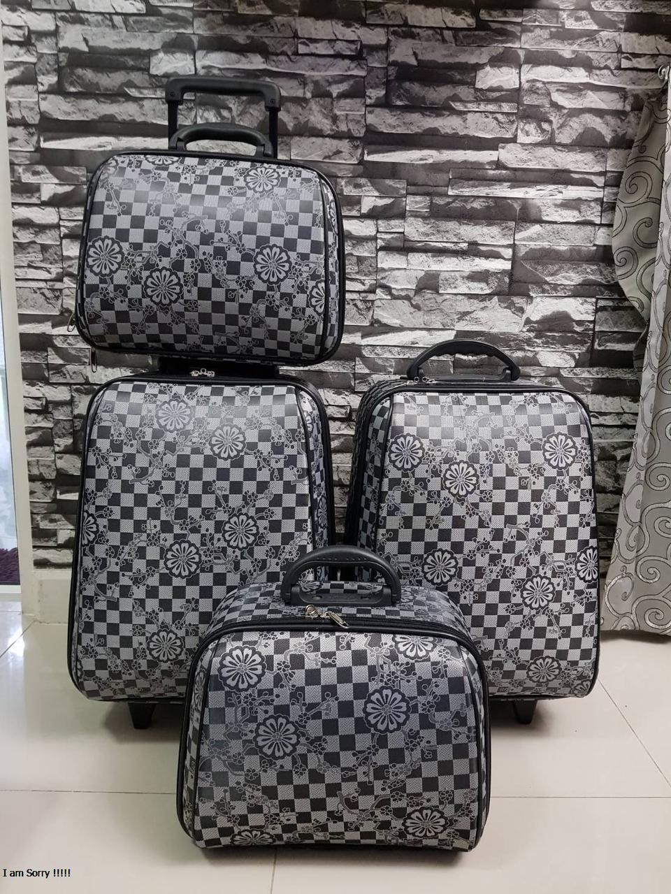กระเป๋าเดินทางแบบผ้า เซ็ทคู่ 18/13 นิ้ว ลาย Gray/Black รูปที่ 4