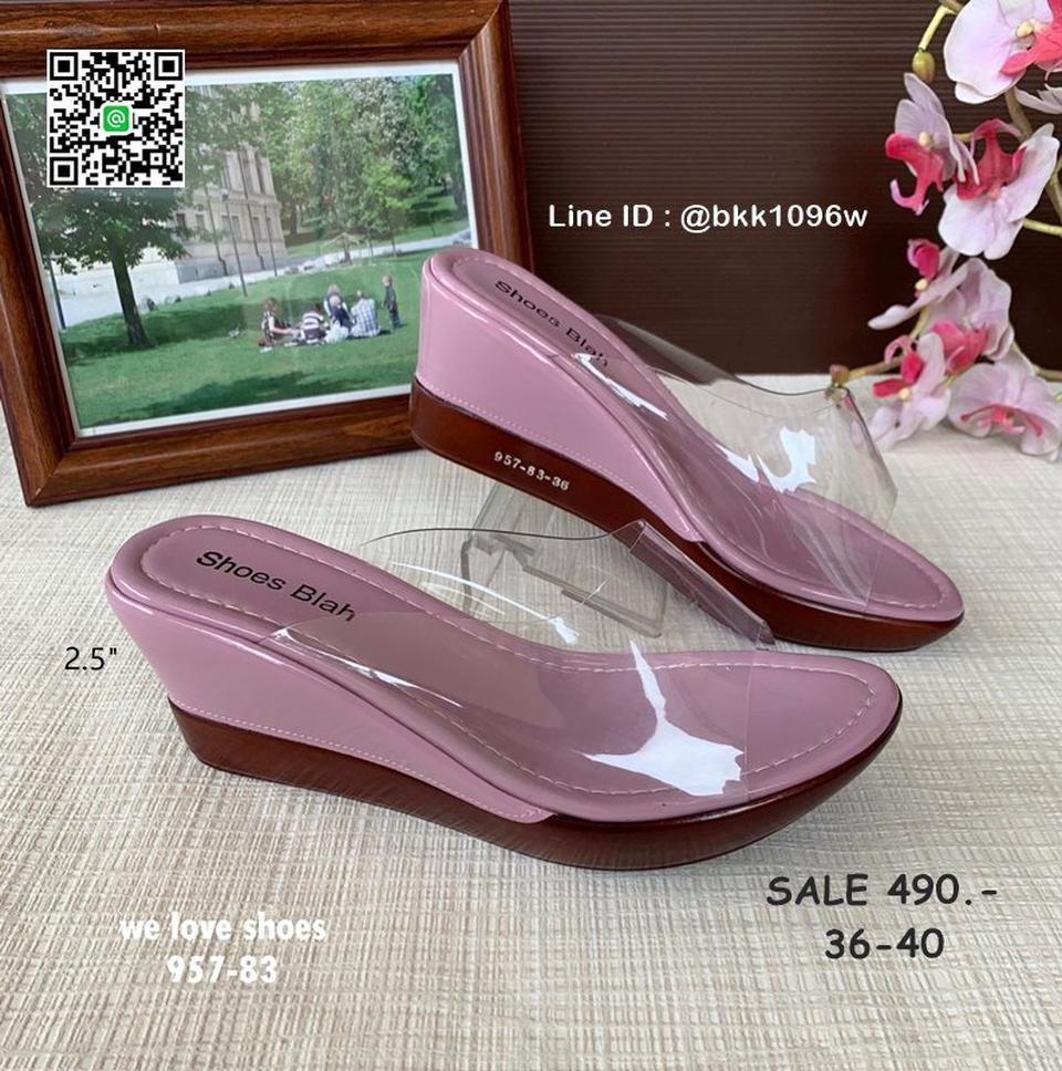 รองเท้าส้นเตารีด พลาสติกใสนิ่ม น้ำหนักเบา สูง 2.5 นิ้ว   รูปที่ 6