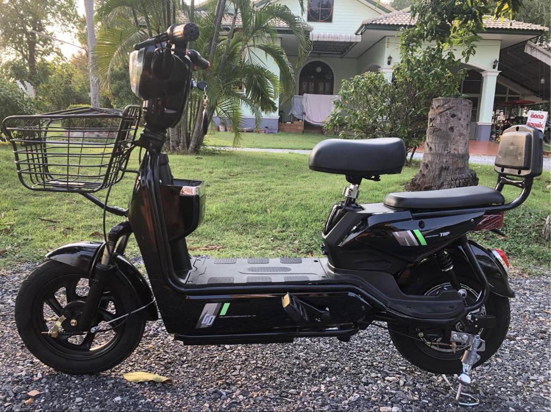 💥(จำนวนจำกัด) จักรยานไฟฟ้า สกูตเตอร์ไฟฟ้า มีที่ปั่น พร้อมไฟเลี้ยวกระจกมองหลัง มี 8 สี รูปที่ 2