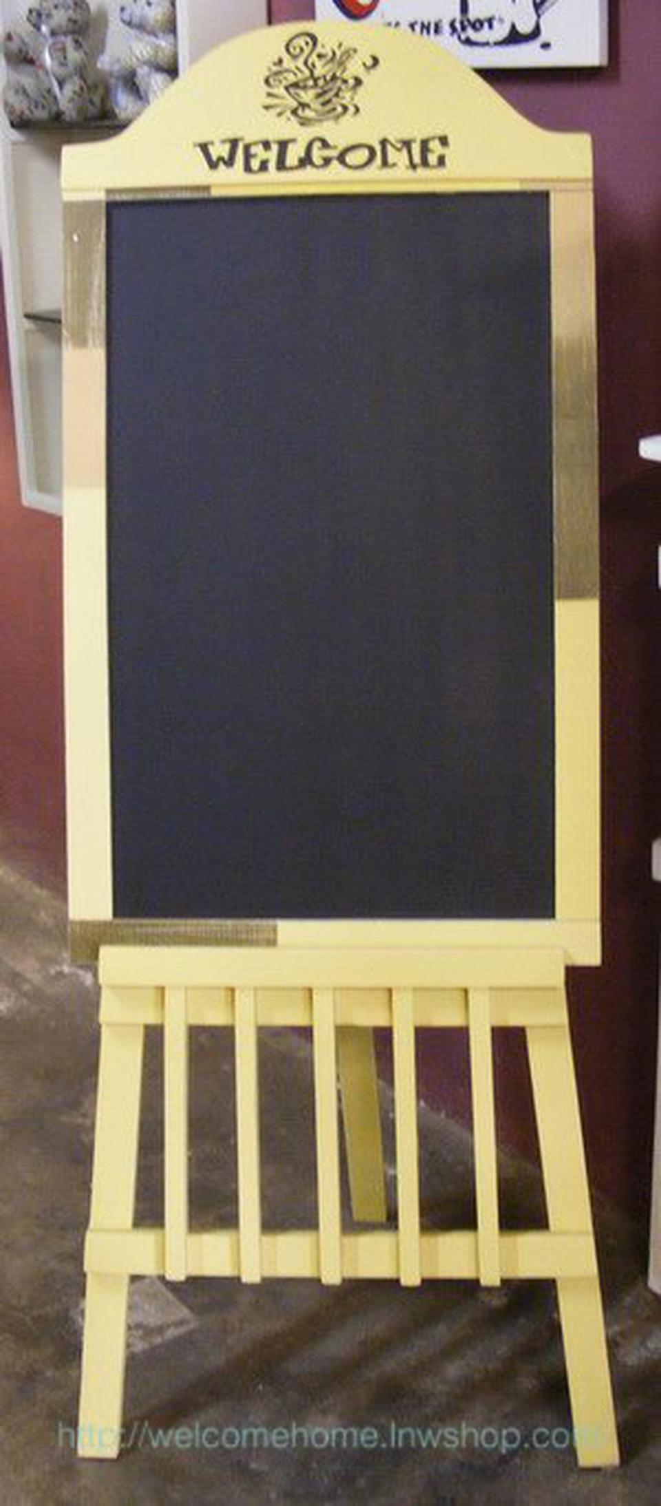 กระดานดำตั้งพื้น ของตกแต่งหน้าร้านขายของเก๋ๆครับ รูปที่ 2
