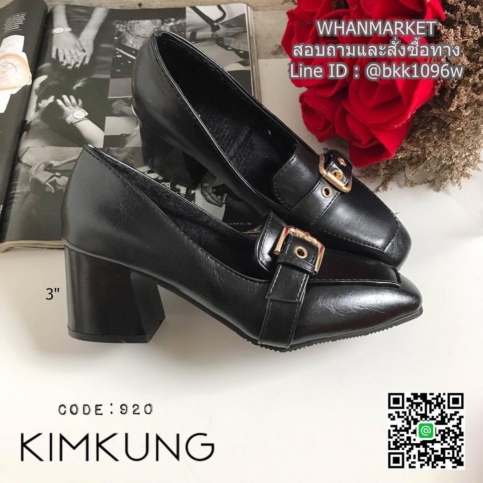 """รองเท้าคัทชูส้นสูง style oxford งานนำเข้า งานเกาหลี เข็มขัดด้านหน้า สูง 3"""" รูปที่ 4"""