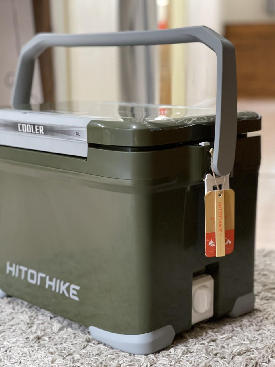 กระติกถังน้ำเก็บความเย็นถังแช่เครื่องดื่มน้ำเย็น22ลิตรเก็บความเย็นได้48ชม.ฝาเปิดได้2ทางมีจุกปล่อยน้ำด้านข้างhitorhike รูปที่ 5