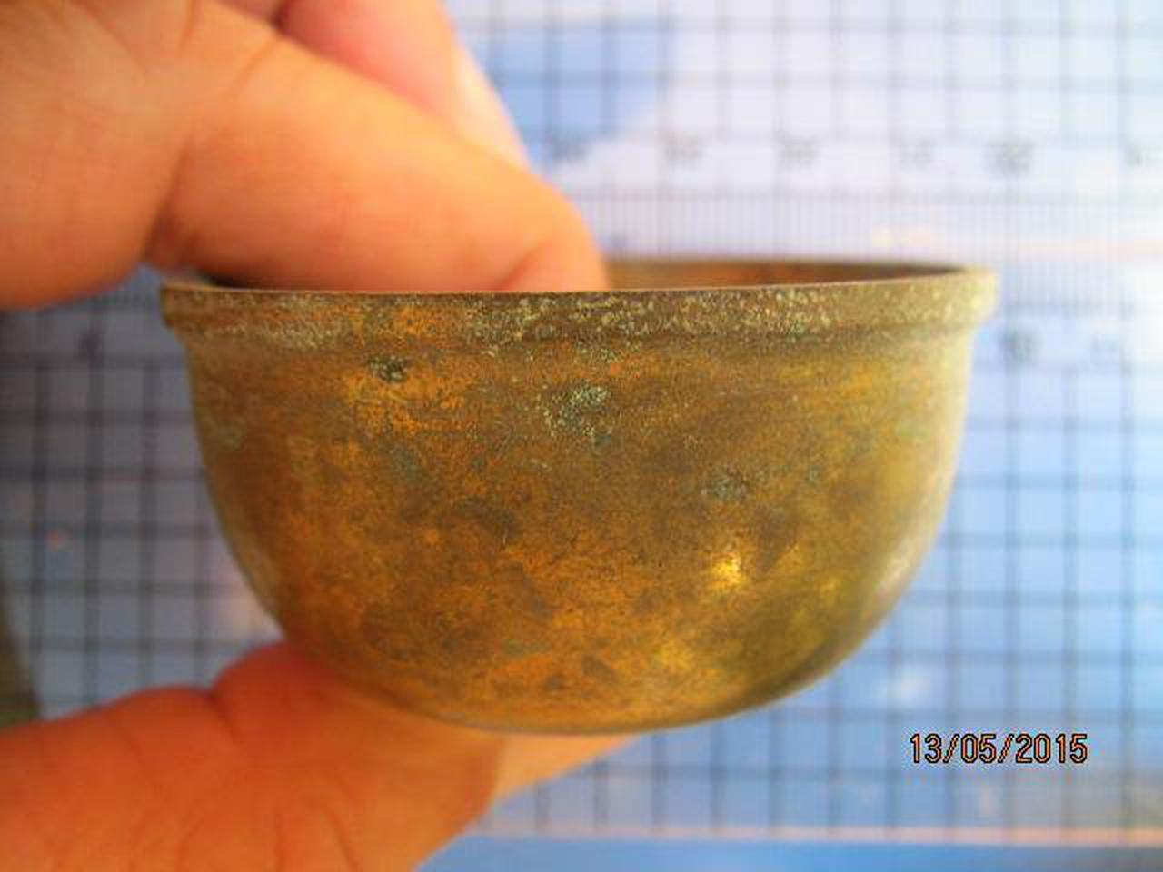 1982 ถ้วยทองเหลือง ความกว้างขนาด 2 นิ้ว สูง 1 นิ้ว ถ้วยทองเห รูปที่ 2