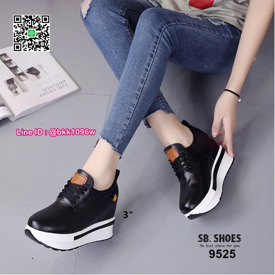 รองเท้าผ้าใบเสริมส้น 3 นิ้ว วัสดุหนัง pu คุณภาพดี  มีเชือกผู รูปที่ 2