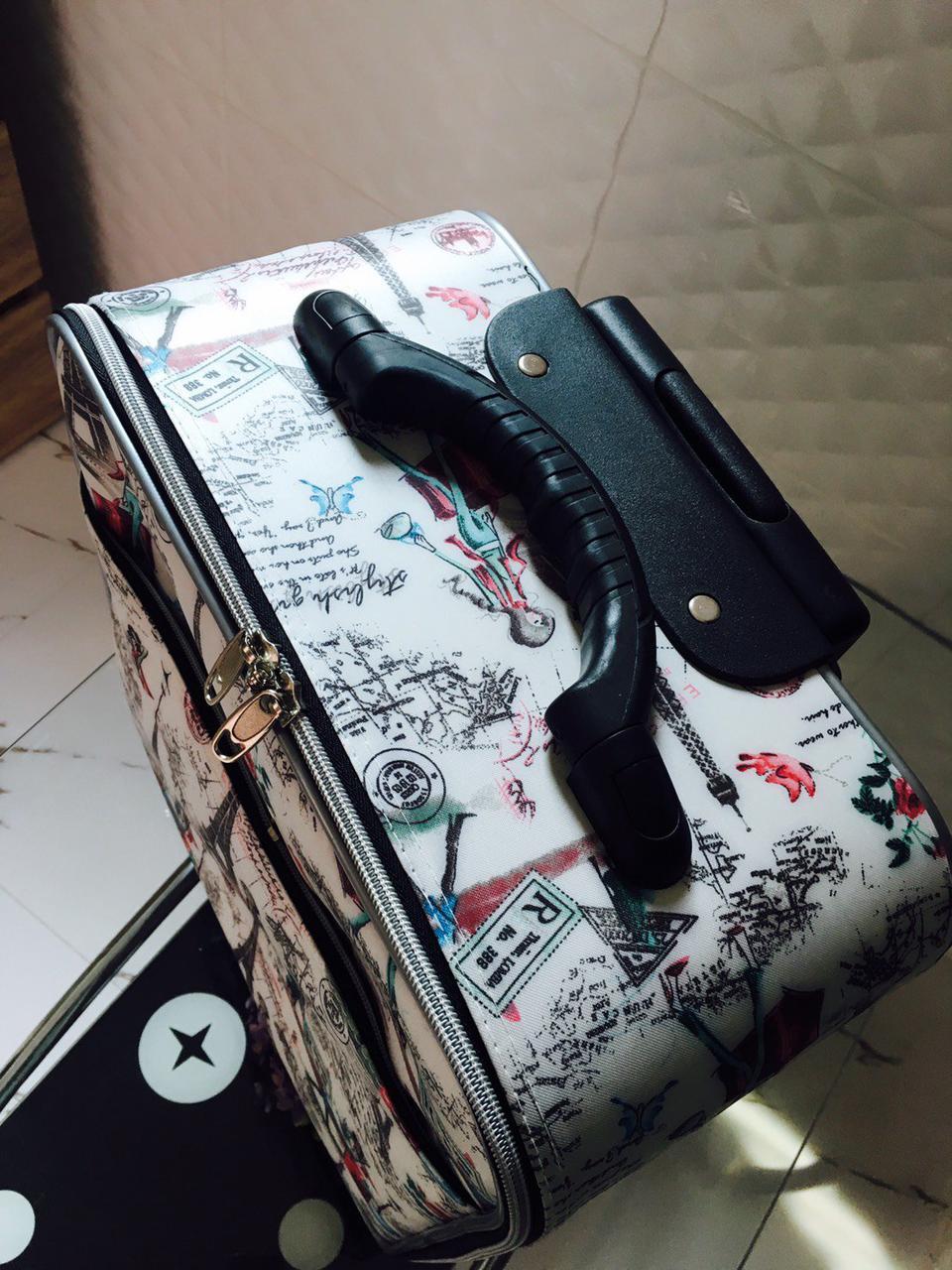 กระเป๋าเดินทางแบบผ้า ลายหอไอเฟล 16 นิ้ว รูปที่ 2