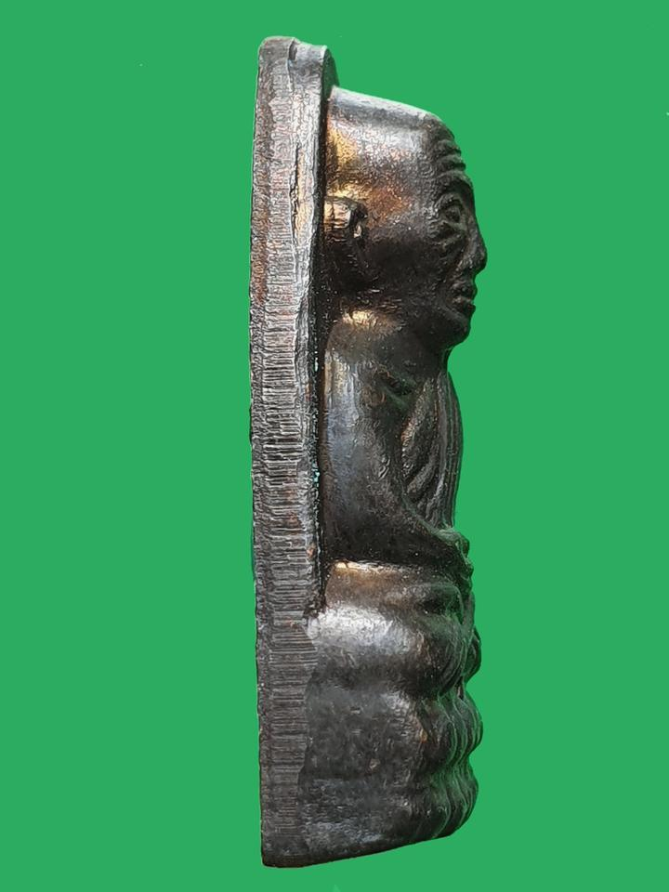 พระหลวงปู่ทวด เตารีดหลังหนัง พิมพ์เล็ก ท. วัดช้างให้ ปี 2506 รูปที่ 3